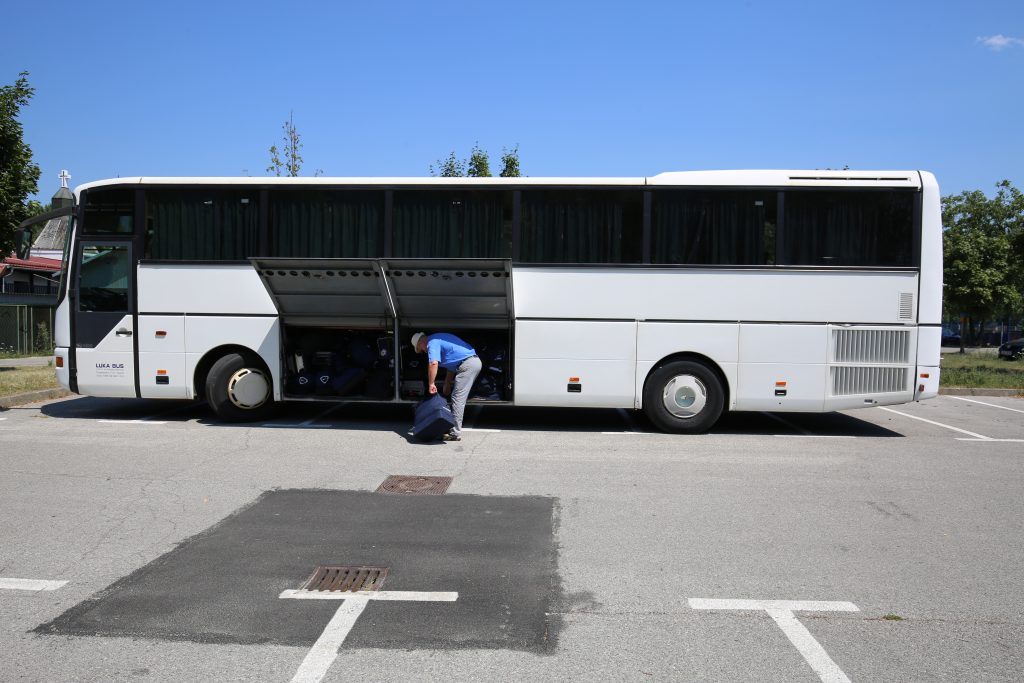 Autobus za gostovanje u Osijeku